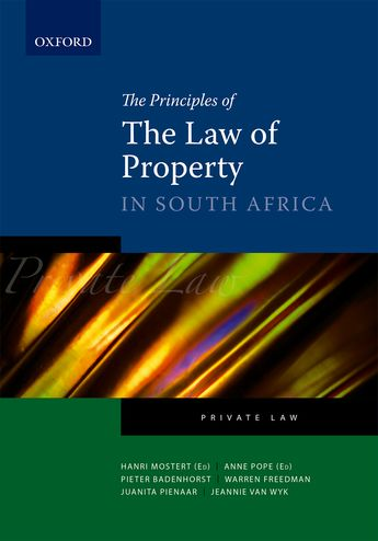 Oxford University Press :: The Principles of the Law of Property in